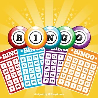 Fondo de cartones de bingo