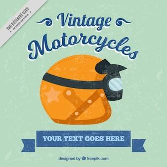 Fondo de un casco para motocicleta