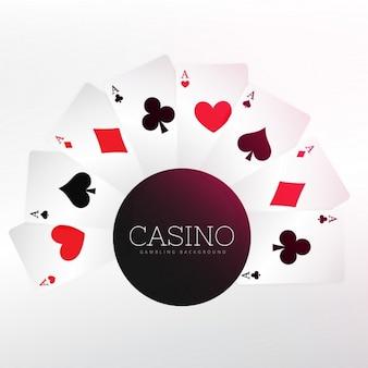 Fondo de casino con cartas