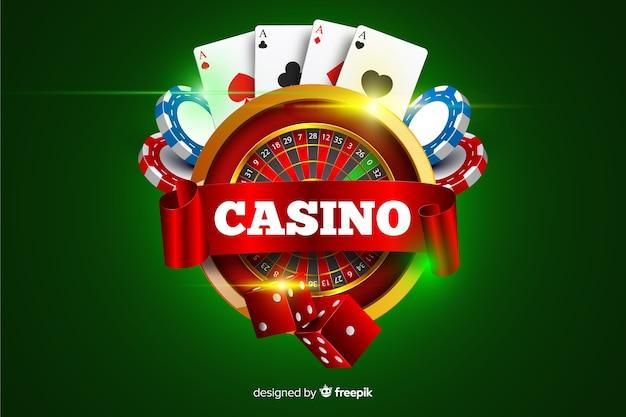Fondo de casino en estilo realista