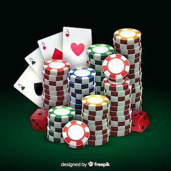Fondo de casino realista
