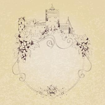 Fondo de castillo de bosquejo