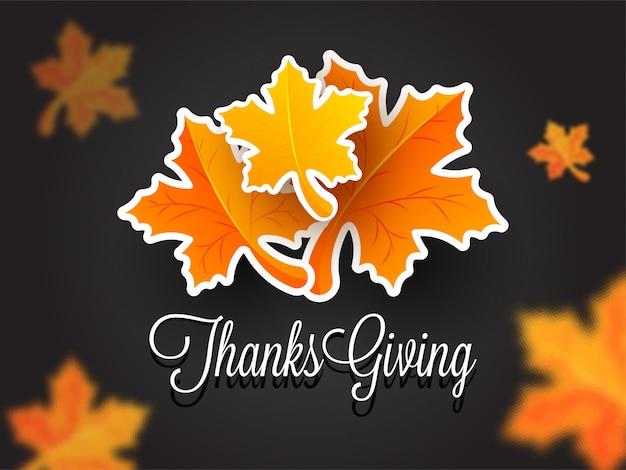 Fondo de celebración de acción de gracias.