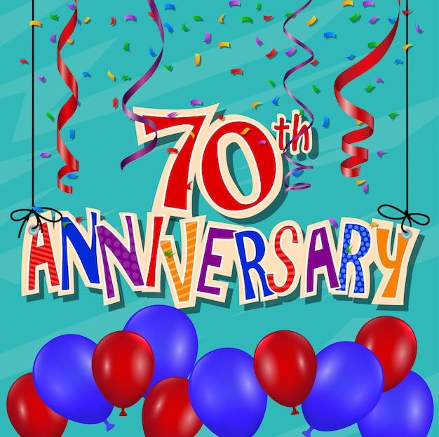 Fondo de celebración de aniversario con confeti y globo