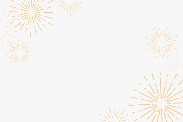 Fondo de celebración de año nuevo de fuegos artificiales dorados