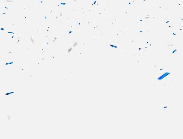 Fondo de celebración de confeti y cintas