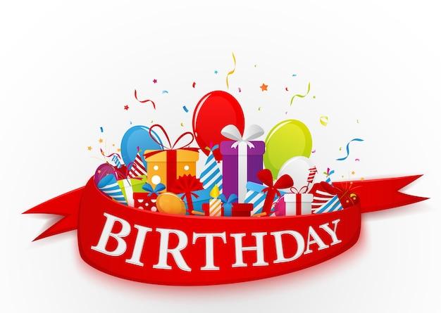 Fondo de celebración de cumpleaños con elementos de fiesta