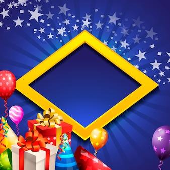 Fondo de celebración de cumpleaños, globo de cumpleaños.