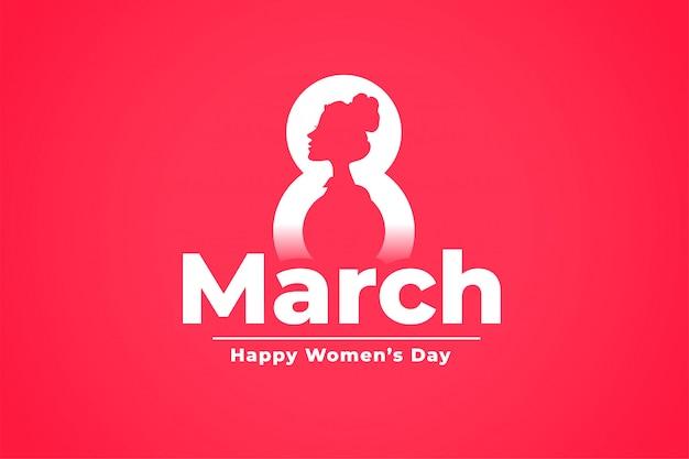 Fondo de celebración del día internacional de la mujer 8 de marzo