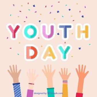 Fondo de celebración del día de la juventud