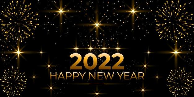 Fondo de celebración de feliz año nuevo 2022 con focos