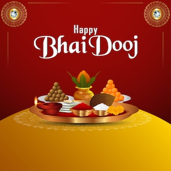 Fondo de celebración feliz bhai dooj