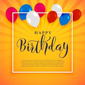 Fondo de celebración feliz cumpleaños con espacio de texto
