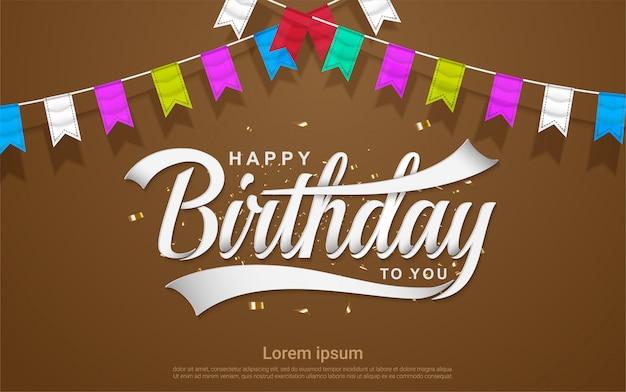 Fondo de celebración de feliz cumpleaños