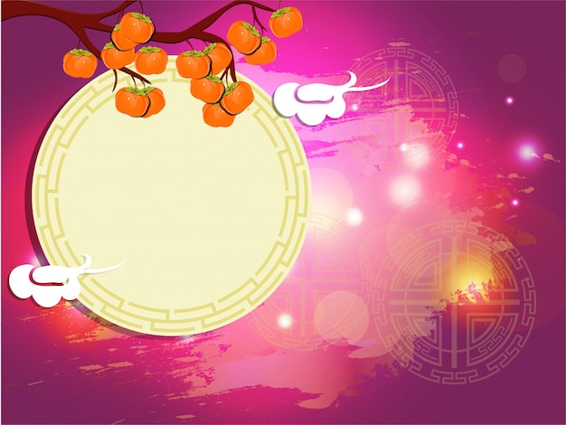 Fondo de celebración del festival chuseok