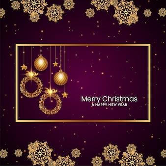 Fondo de celebración del festival de feliz navidad con estilo