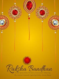 Fondo de celebración del festival indio de raksha bandhan feliz