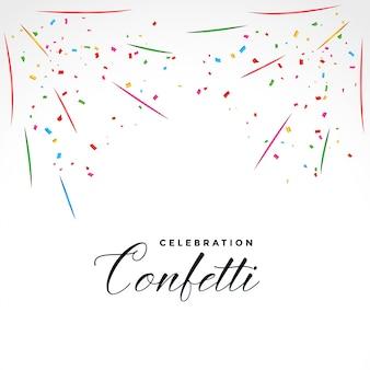 Fondo de celebración de fiesta de explosión de confeti