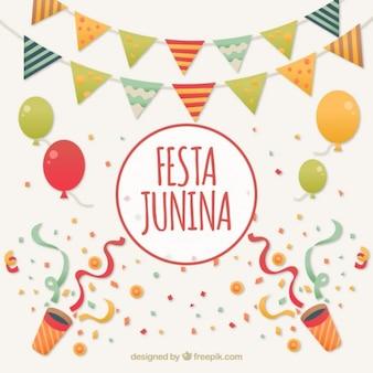 Fondo de de celebración de fiesta junina