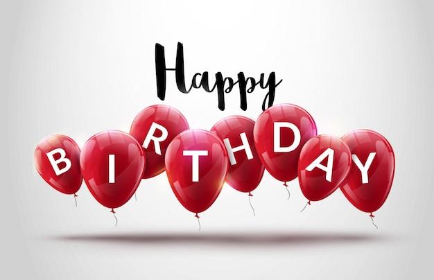 Fondo de celebración de globos de feliz cumpleaños