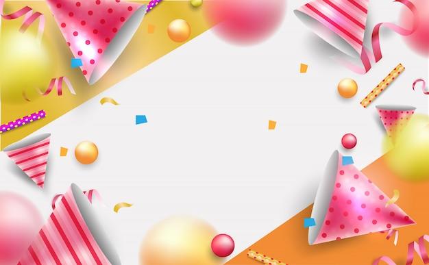 Fondo de celebración para tarjeta de felicitación, póster, fondo o banner.