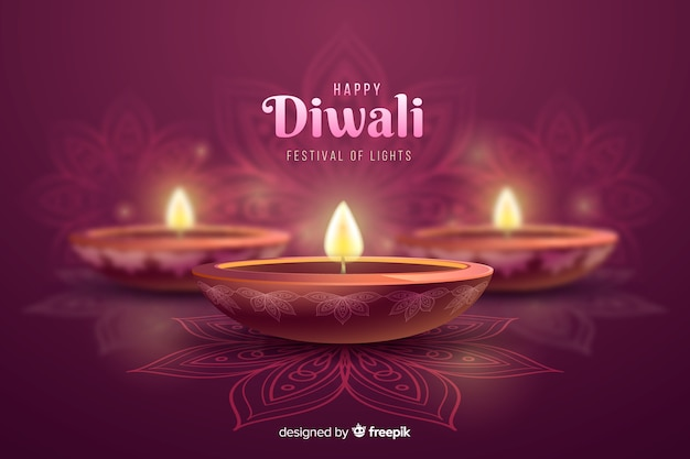 Fondo de celebración de velas festivas de diwali