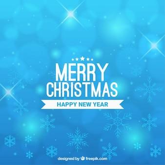 Fondo celeste de feliz navidad