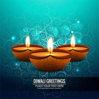Fondo celeste ornamental de diwali