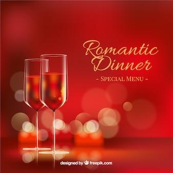 Fondo de cena romántica
