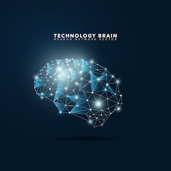 Fondo con cerebro tecnológico