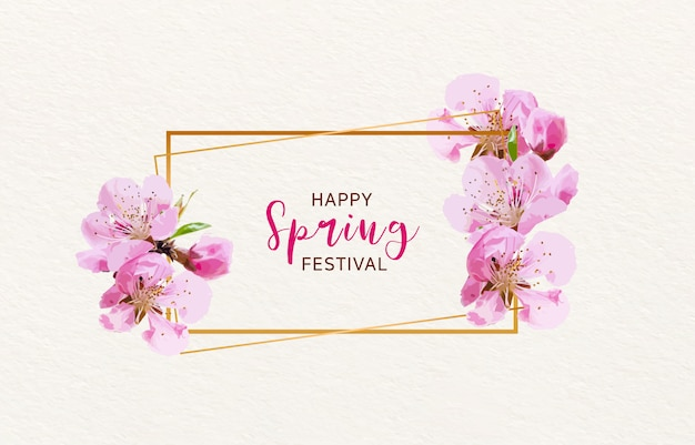 Fondo de cerezo floreciente primavera