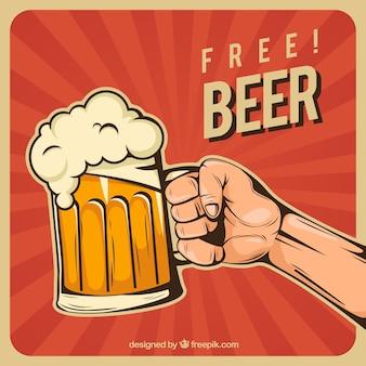 Fondo de cerveza plano