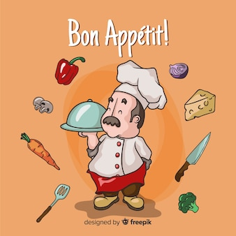 Fondo chef dibujos animados