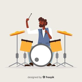 Fondo chico tocando la batería