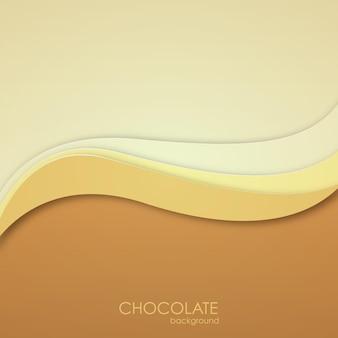 Fondo de chocolate abstracto