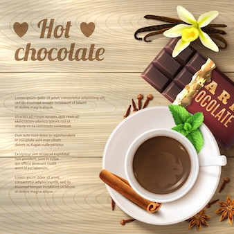 Fondo de chocolate caliente