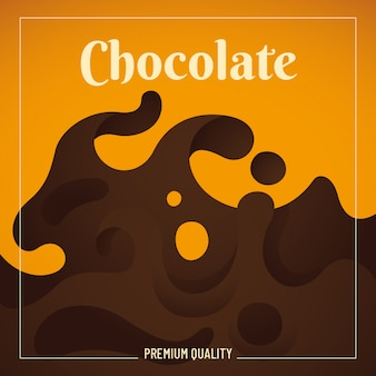 Fondo de chocolate