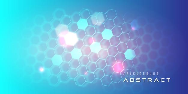 Fondo cibernético de tecnología nano azul