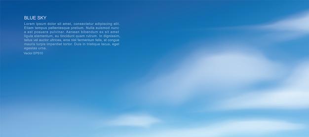 Fondo de cielo azul con nubes blancas. cielo abstracto de fondo natural.