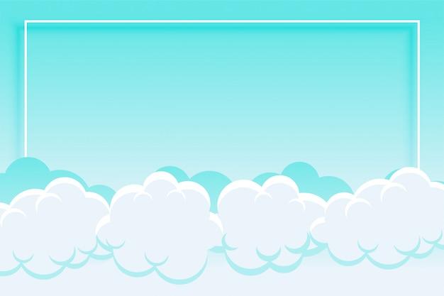 Fondo de cielo azul y nubes con espacio de texto