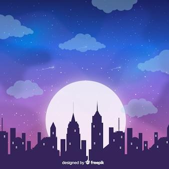 Fondo de cielo de noche estrellado melancólico