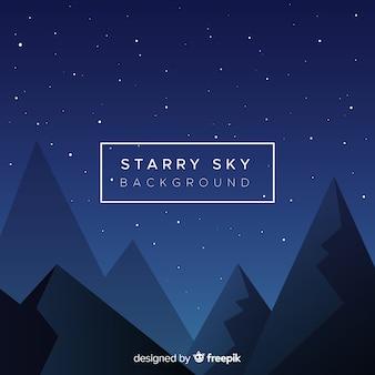 Fondo de cielo de noche estrellado