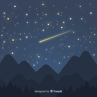Fondo cielo nocturno estrellado