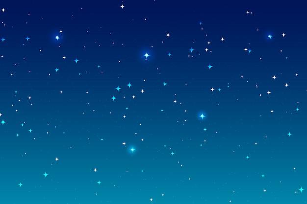 Fondo de cielo nocturno y muchas estrellas.
