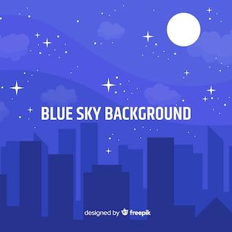 Fondo cielo nocturno plano
