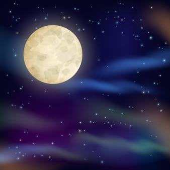 Fondo del cielo nocturno