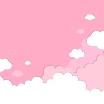 Fondo de cielo rosa nublado