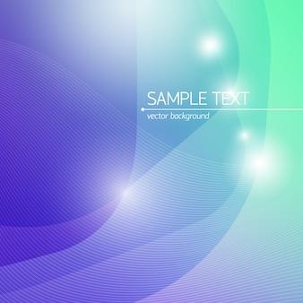 Fondo de ciencia de diseño abstracto con líneas de campo de texto y efectos de luz planos