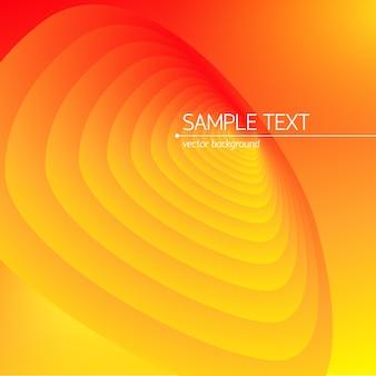 Fondo de ciencia en diseño abstracto naranja brillante con texto de ejemplo plano