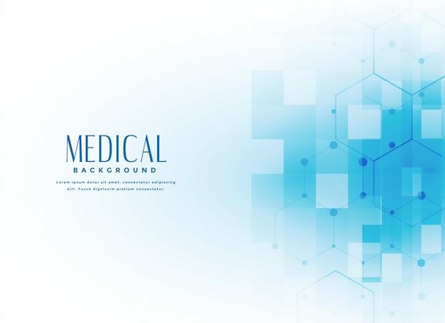 Fondo de la ciencia médica en color azul.